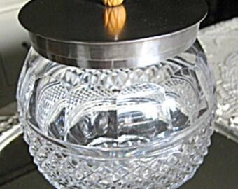 Vintage Cut Glass Jar