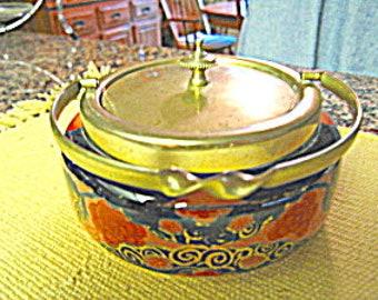 Antique Porcelain Cracker or Sardine Jar