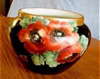 Antique Limoges Porcelain Jardinaire