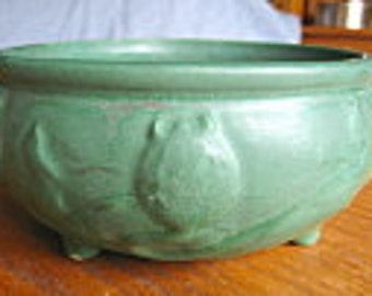 Antique Matte Green Art Pottery Vase