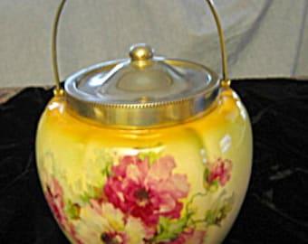 Antique Earthenware Biscuit Jar