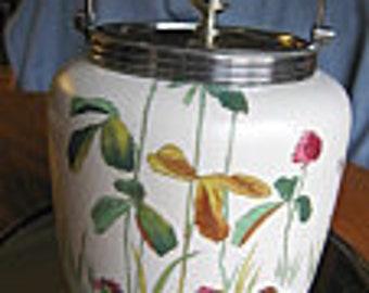 Antique Doulton & Co. Earthenware Biscuit Jar