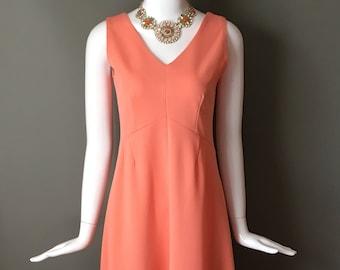 Lovely Vtg 70s 2 Piece Outfit Sleeveless 2 Piece Maxi Dress W/Matching Jacket Blazer w/Ruffle Trims S Mint