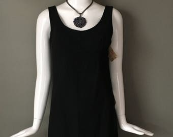 b25b2610cd2 Super Cute NOS w Store Tags Attached Black Built In Bra Slip Dress Cover Up  S Mint