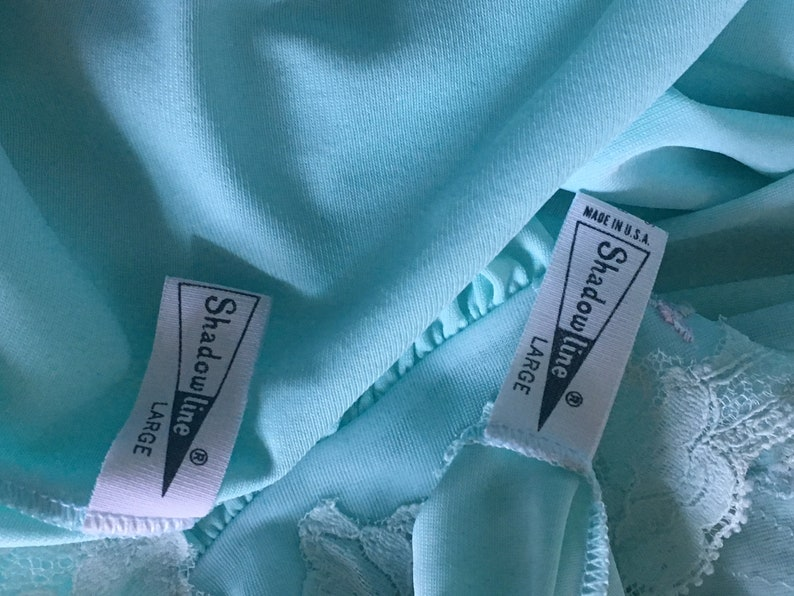 Vtg 60s 2 Piece Shadowline Designer Label Mint Green In Mint Condition Nightgown /& Matching Robe Peignoir Set Rare L Sissy