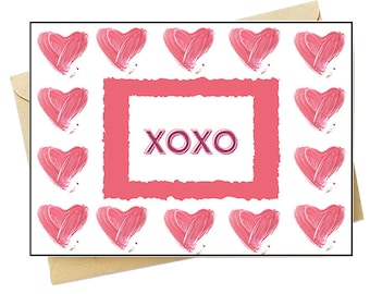 XOXO Hugs & Kisses - Note Card Set - Free Shipping on orders over 35