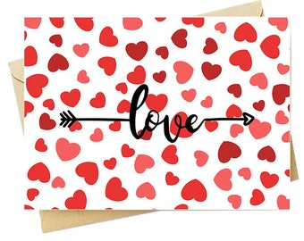 Arrow Hearts - Note Card Set - Free Shipping on orders over 35