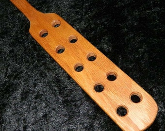 Mini Red Oak Adult Spanking Paddle w/ Holes