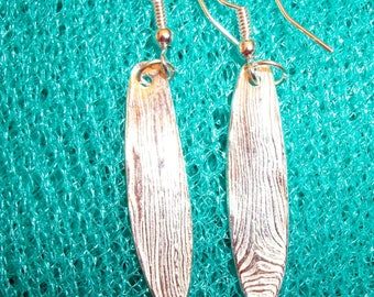 Precious Metal Clay Oblong Earrings
