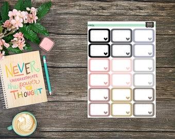 Half Box Stickers Neutral Tones