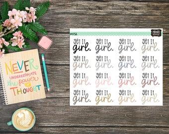 Get It Girl Stickers Neutral Scheme