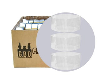 55mm x 28mm Perforated Pack of 100 Hobby Candles Shrink Bands for Caps 1 to 1.25 in Diameter