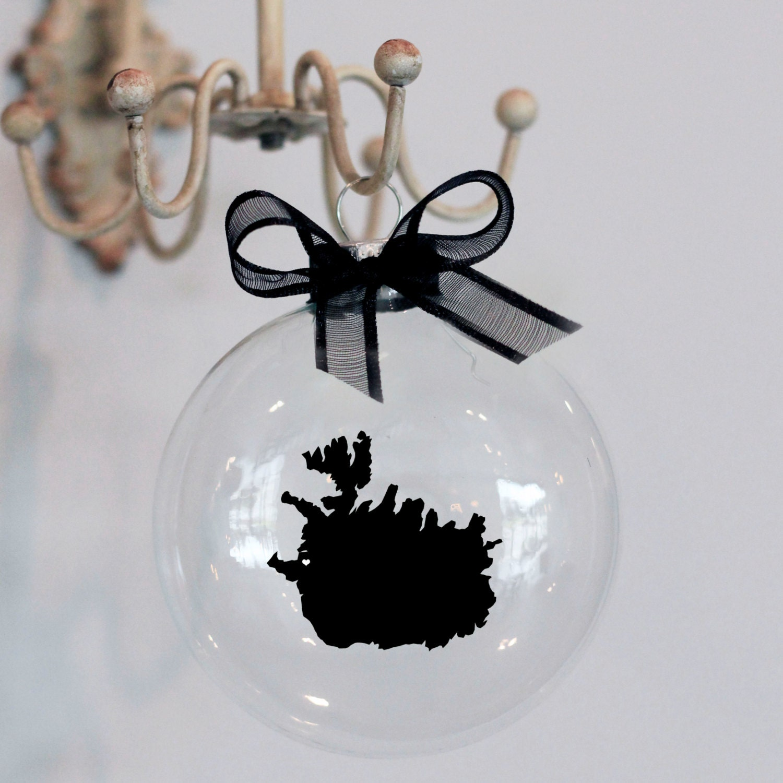 Iceland Christmas Ornament Custom Adoption Travel | Etsy
