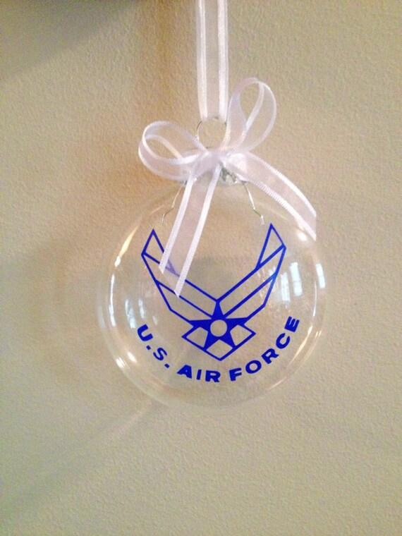 Us Air Force Christmas Ornament Custom Deployment Travel Etsy