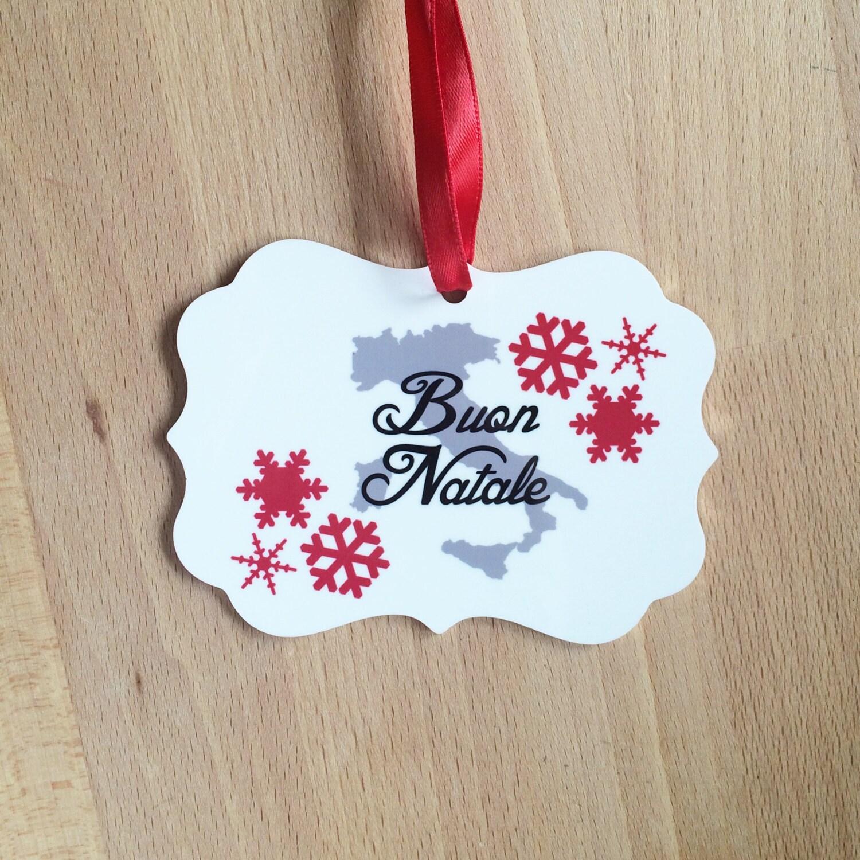 Buon Natale Ornament.Italian Merry Christmas Ornament Italy Buon Natale