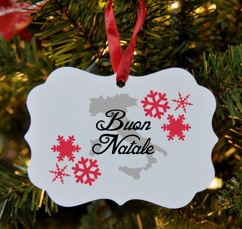 italian merry christmas ornament italy buon natale - Merry Christmas In Italian