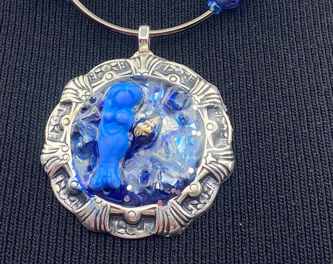 "Mermaid Pendant Necklace 24"""