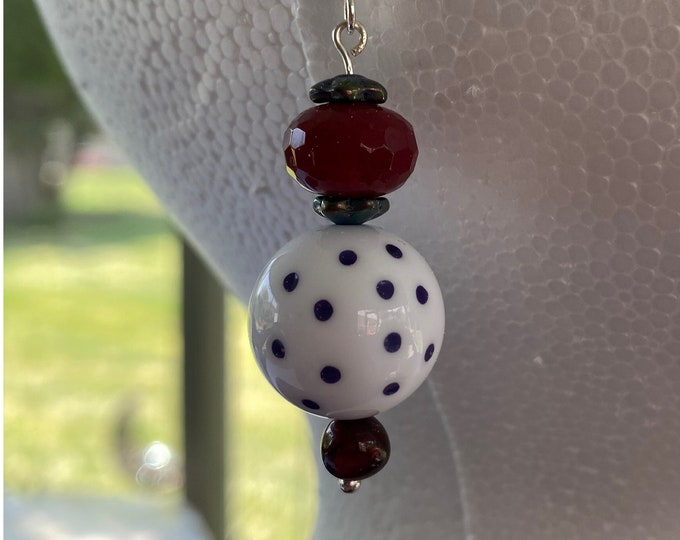 Vintage polka dot bead earrings