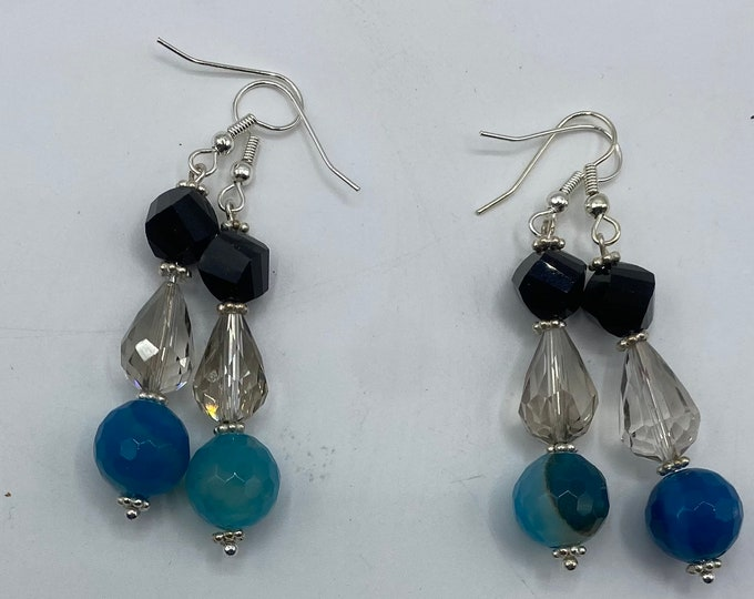 Crystal, Quartz and Glass earrings