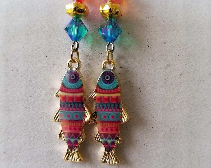Fish dangle earrings