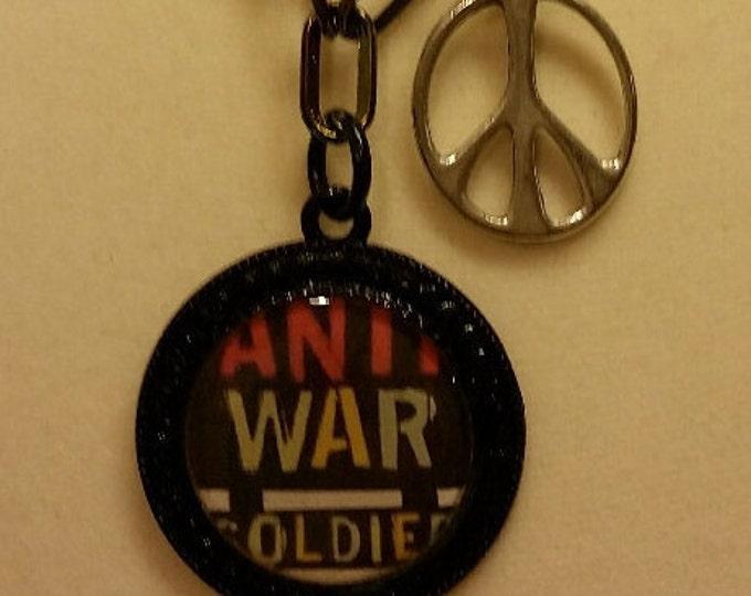Necklace. Anti war oldie. Granarchists Unite! Anti-war soldier/oldie
