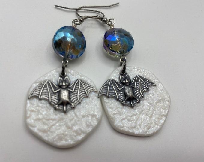 Bat and Moon earrings