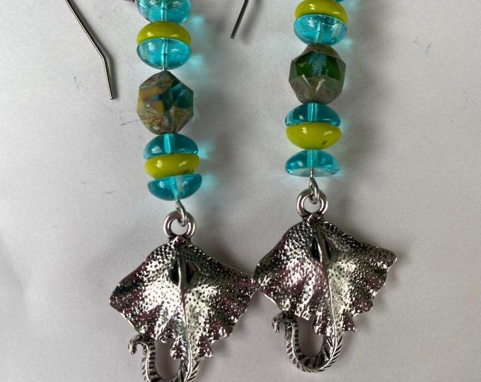 Manta ray earrings