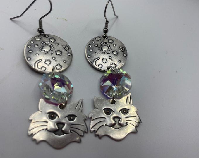 Cat and Sky earrings
