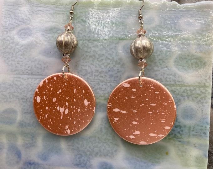 Vintage Lucite Disc earrings