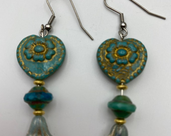 Hearts and Flowers Earrings
