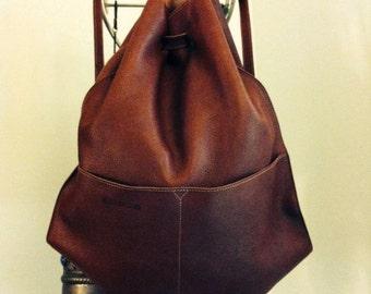 Zaino,rucksack,backpack in vera pelle, in genuine leather