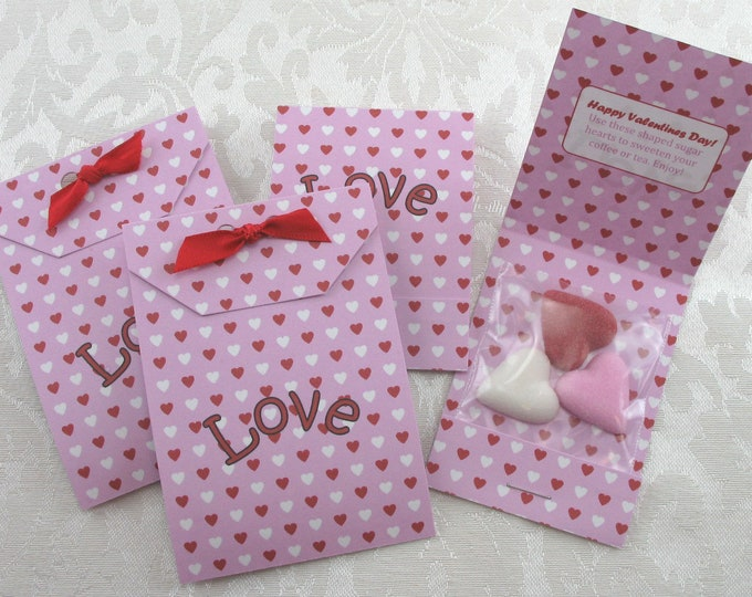 Heart Sugar Cube & Tea Bag Favors for your Valentine's Party