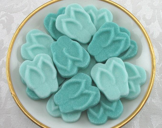 18 Aqua Flip Flop Sugar Cubes