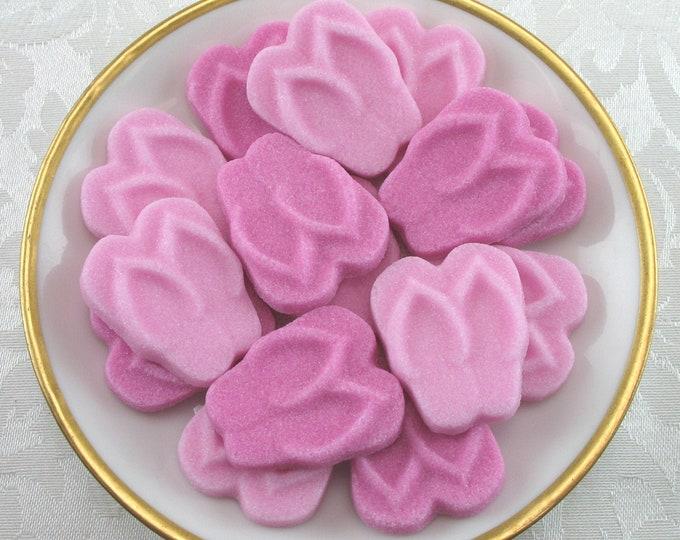 18 Pink Flip Flop Sugar Cubes