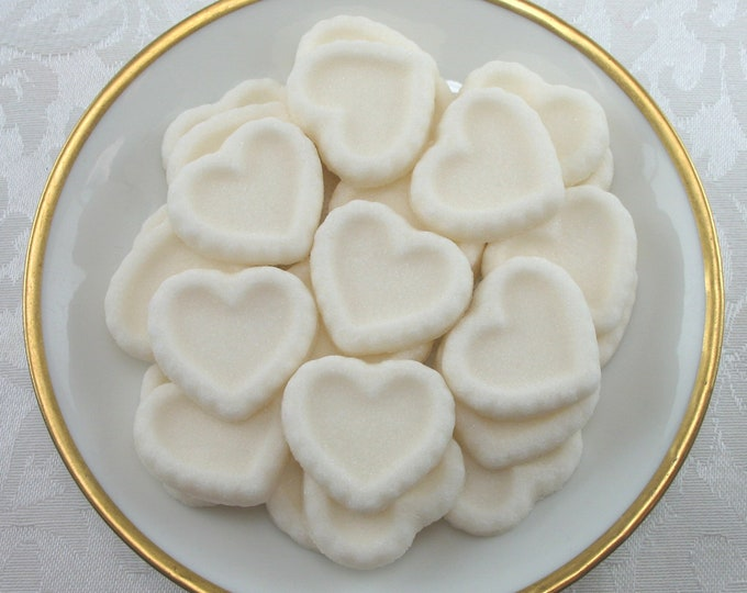 30 Ivory Heart Shaped Sugar Cubes