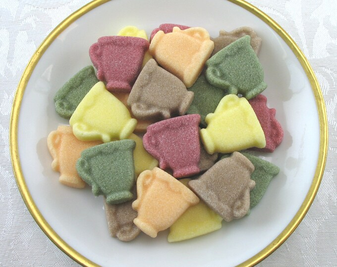 32 Mini Teacup Sugar Cubes in Autumn Mix