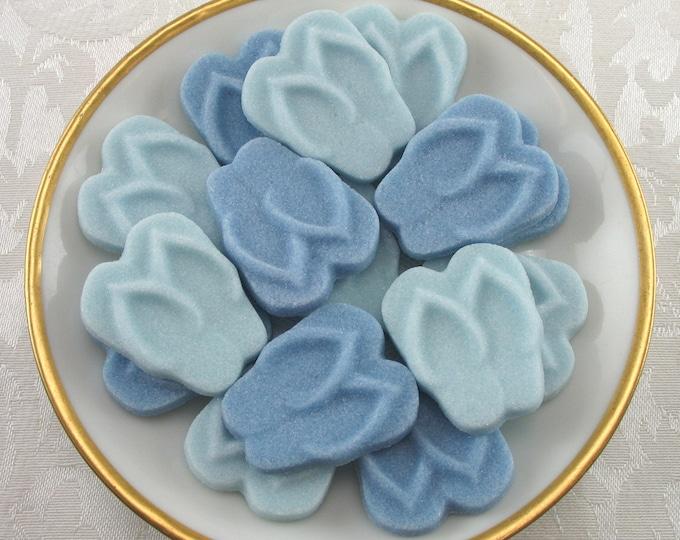 18 Blue Flip Flop Sugar Cubes