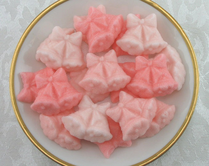 30 Peach & Coral Double Wedding Bell Sugar Cubes