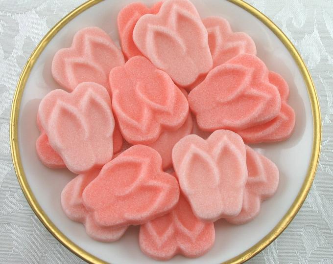 18 Peach & Coral Flip Flop Sugar Cubes