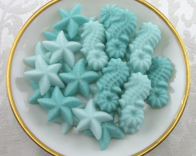 40 Seahorse & Starfish Sugar Cubes for your Summertime Tea Party