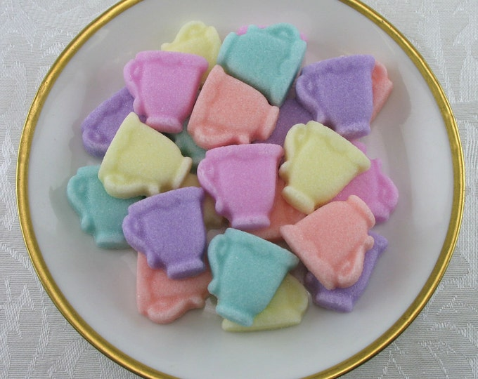 32 Pastel Mix Mini Teacup Sugar Cubes