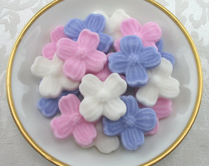 24 Dogwood Blossom Sugar Cubes for your Tea Party