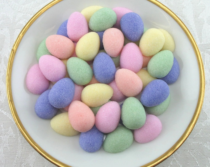 78 Pastel Mini Easter Egg Sugar Cubes for your Easter Brunch or Tea
