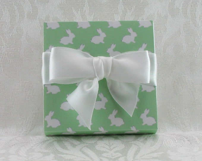 Green Gift Boxed Bunny Sugar---Great hostess gift or gift for mom!