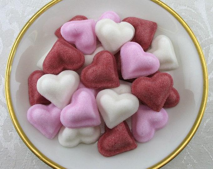 30 Puffed Heart Sugar Cubes in Valentine Mix