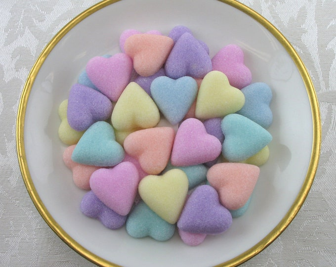 60 Petite Heart Sugar Cubes in Pastel Mix
