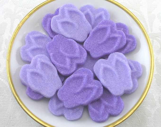 18 Purple Flip Flop Sugar Cubes