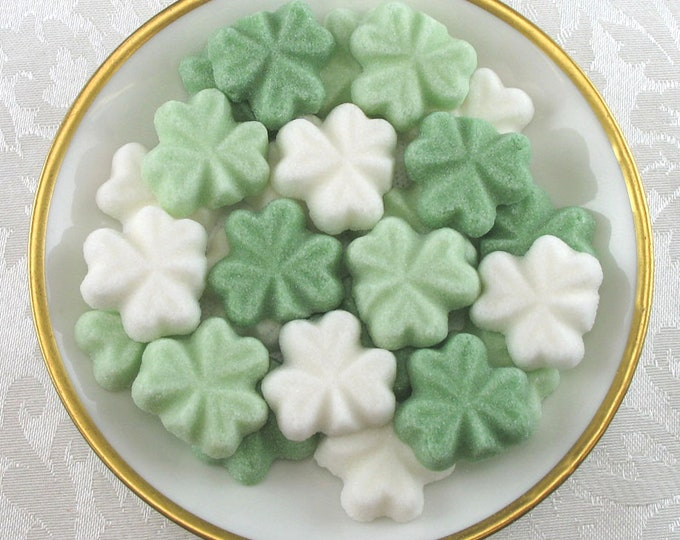 Green & White Shamrock Sugar Cubes---Great little Irish Gift