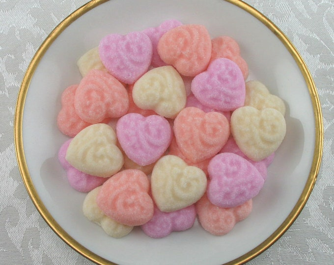 36 Embossed Heart Sugar Cubes in Sweetheart Mix