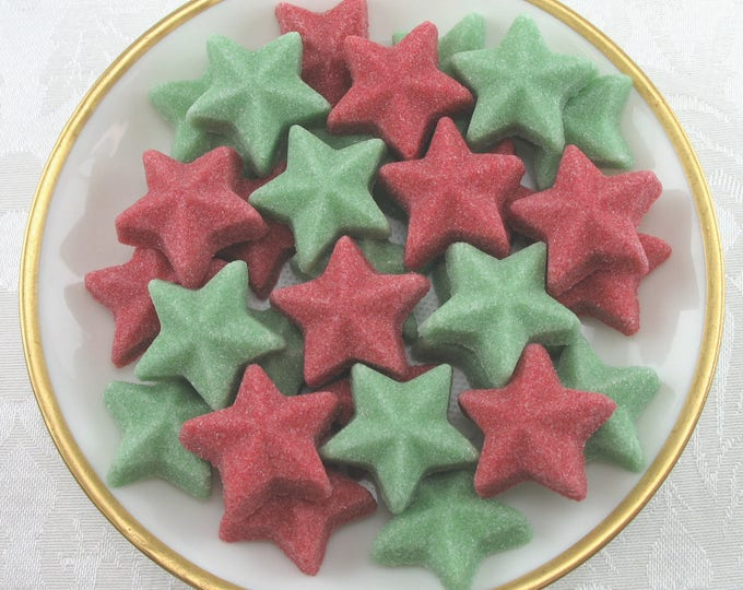 30 Large Raised Star Sugar Cubes for Your Christmas Celebrations